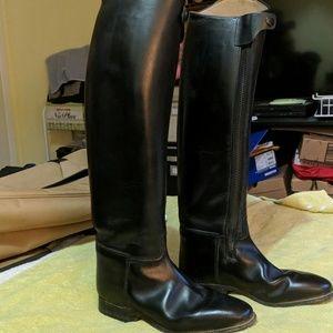 König/Konig Tall Black Custom Riding Boots 10